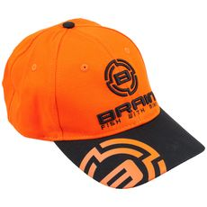 Кепка Brain чорний/оранжевий