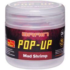 Бойли Brain F1 Pop-Up Mad Shrimp (креветка/спеції)
