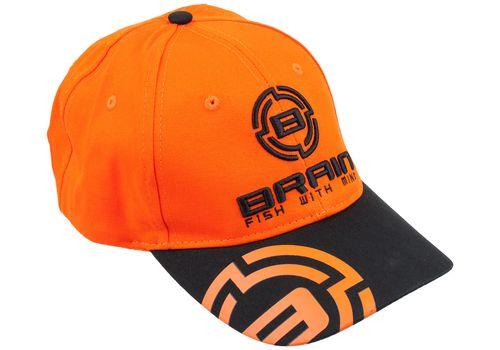 Кепка Brain черный/оранжевый