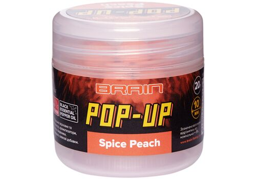 Бойлы Brain Pop-Up F1 Spice Peach (персик/специи)